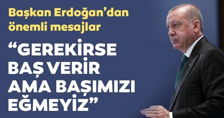 Başkan Erdoğan: Kuzey Kıbrıs'taki kardeşlerimizin hakkını kimseye yedirmeyiz
