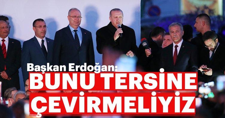 Başkan Erdoğan Bodrum'dan seslendi: Bunu tersine çevirmeliyiz