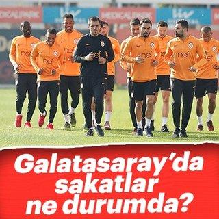 Galatasaray'da sakatların son durumu hakkında açıklama