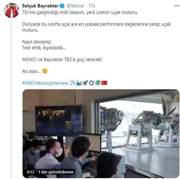 SON DAKİKA! Selçuk Bayraktar sosyal medyadan duyurmuştu! Çifte müjde...