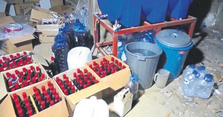 Gaziantep'te kaçak içki imalathanesine operasyon
