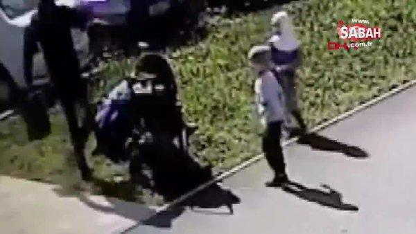 Rusya'ya bağlı Tataristan Özerk Bölgesi'nde başörtülü kadına tekmeli saldırı | Video