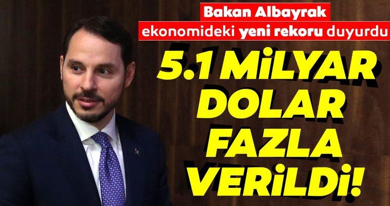 Bakan Albayraktan cari denge açıklaması: Ağustosta 5.1 milyar dolar fazla verdik