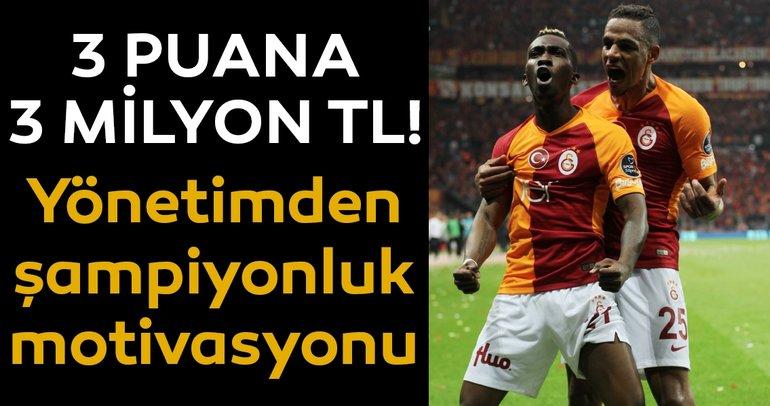Galatasaray'da galibiyet primi: 3 milyon TL