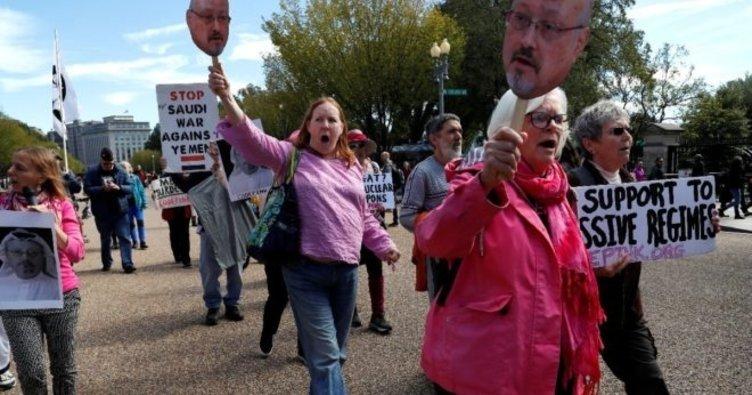 Beyaz Saray önünde Kaşıkçı protestosu