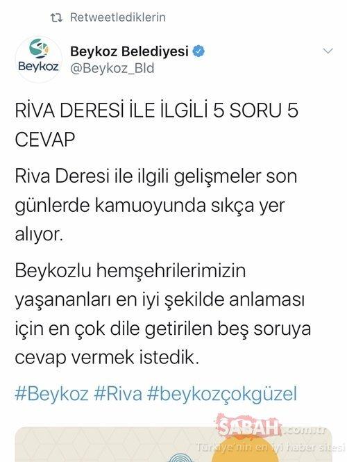 Beykoz Belediyesi'nden İmamoğlu'na görev hatırlatması! Riva Deresi'nde sorununun çözülmesi İSKİ'nin sorumluluğunda