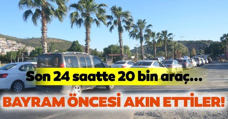 Kuşadası'na son 24 saatte 20 binden fazla araç giriş yaptı