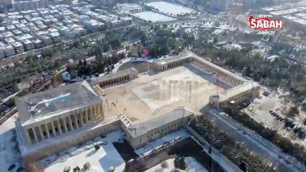 MSB Anıtkabir'in havadan çekilmiş görüntülerini paylaştı   Video