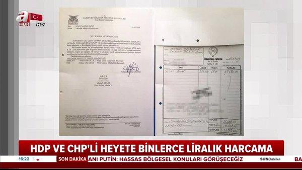 MardinBüyükşehir Belediyesi,HDPveCHPheyetine binlerce lira harcamış