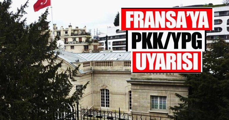 Türkiye'nin Paris Büyükelçiliğinden PKK/YPG açıklaması