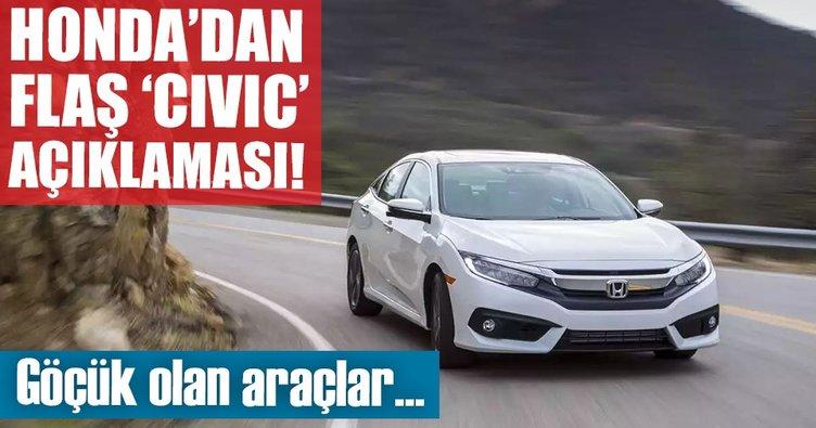Son Dakika Honda Türkiyeden Göçük Açıklaması Otomobil Haberleri