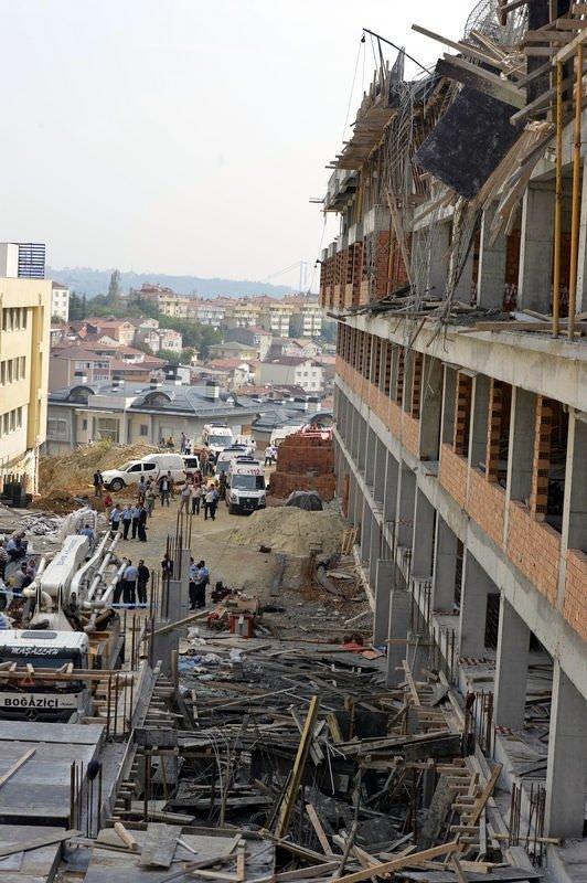 İstanbul'da okul inşaatı çöktü