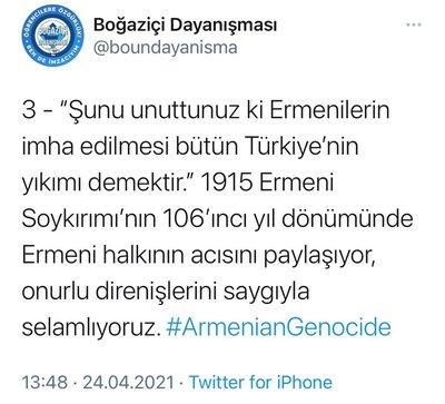 HDP'den sonra Boğaziçi provokatörleri de 'Soykırım' dedi! - Son Dakika Haberler