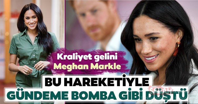 Kraliyet gelini Meghan Markle bu hareketiyle gündeme bomba gibi düştü