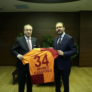 Bakan Mehmet Kasapoğlu, Galatasaray Başkanı Mustafa Cengiz'i kabul etti