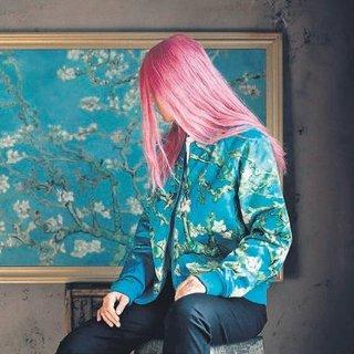 Van Gogh usulü giyilebilir sanat