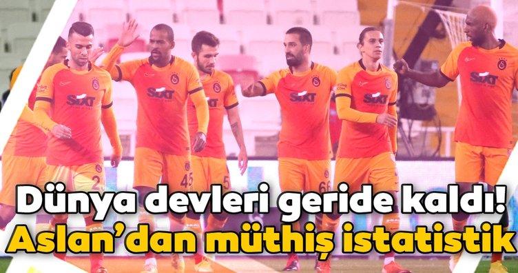 Galatasaray'dan müthiş istatistik! Dünya devleri geride kaldı