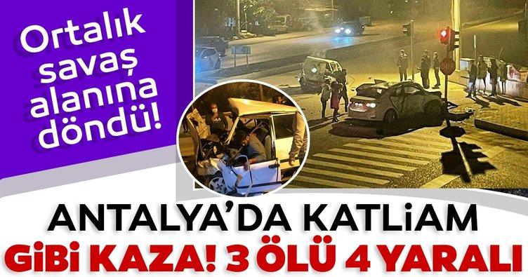 Antalya'da feci kaza! 3 ölü, 4 yaralı