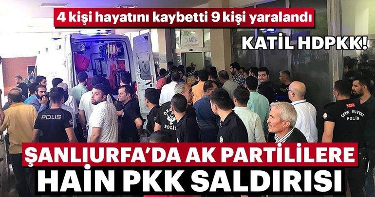 Son Dakika: Şanlıurfa'da AK Partililere hain PKK saldırısı! 4 kişi öldü, 9 kişi yaralandı