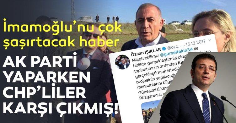İmamoğlu'nu çok şaşırtacak haber:  AK Parti yaparken CHP'liler karşı çıkmış!