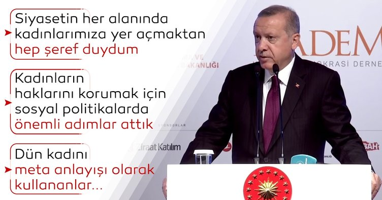 Başkan Erdoğan'dan Kadın ve Adalet Zirvesi'nde önemli açıklamalar
