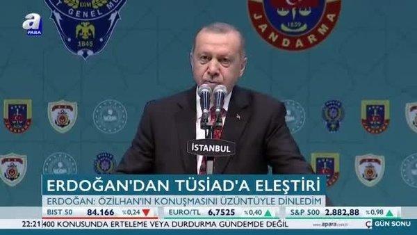 Erdoğan'dan TÜSİAD'a eleştiri