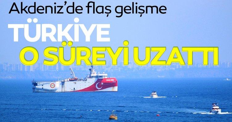 SON DAKİKA: Akdeniz'de yeni Navtex kararı! 18 Ekim'e kadar uzatıldı