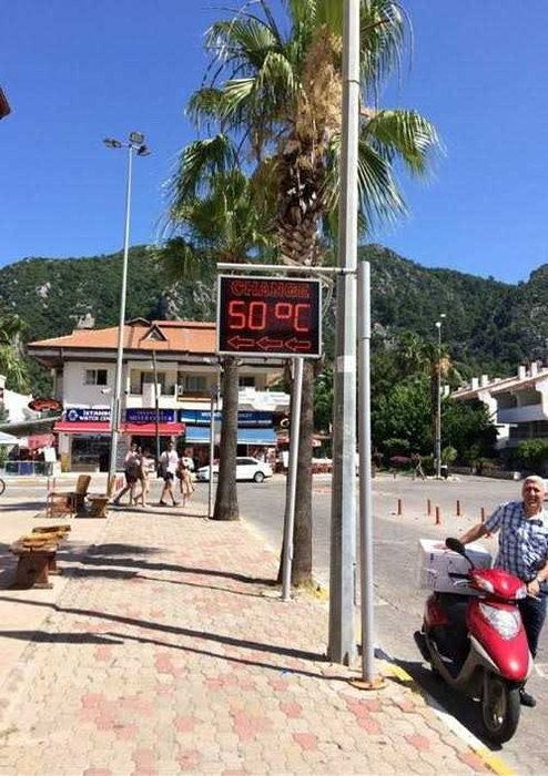 Sıcaklık 50 dereceye çıktı