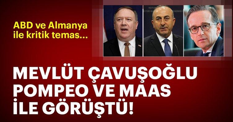 Son dakika:  Dışişleri Bakanı Çavuşoğlu ABD'li ve Alman mevkidaşları ile görüştü