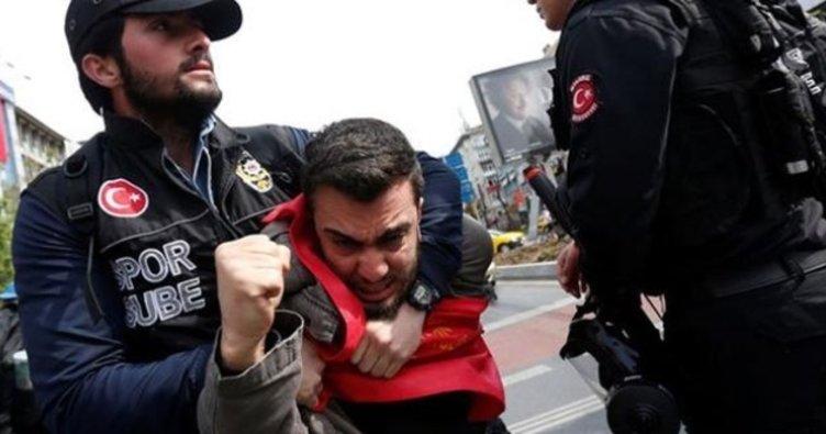 Son Dakika: Mecidiyeköy'den Taksim'e yürümek isteyen gruba müdahale! Gözaltılar var