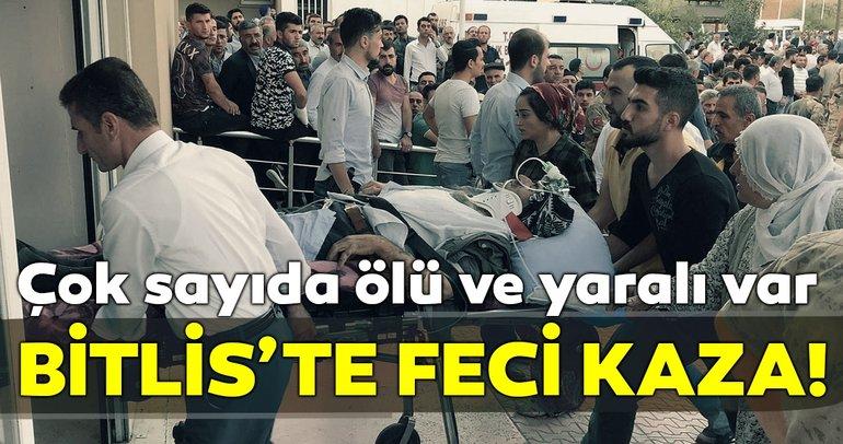 Son dakika: Bitlis'te feci kaza! Çok sayıda ölü ve yaralı var