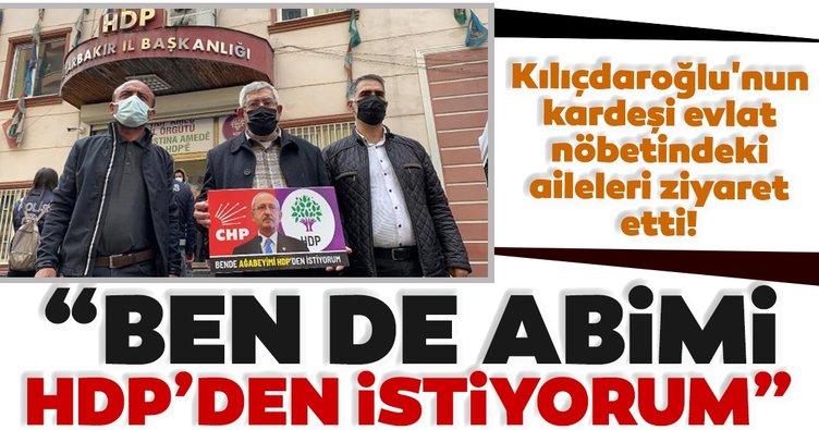 Kılıçdaroğlu'nun kardeşi Diyarbakır annelerini ziyaret etti! 'Ben de abimi HDP'den istiyorum'