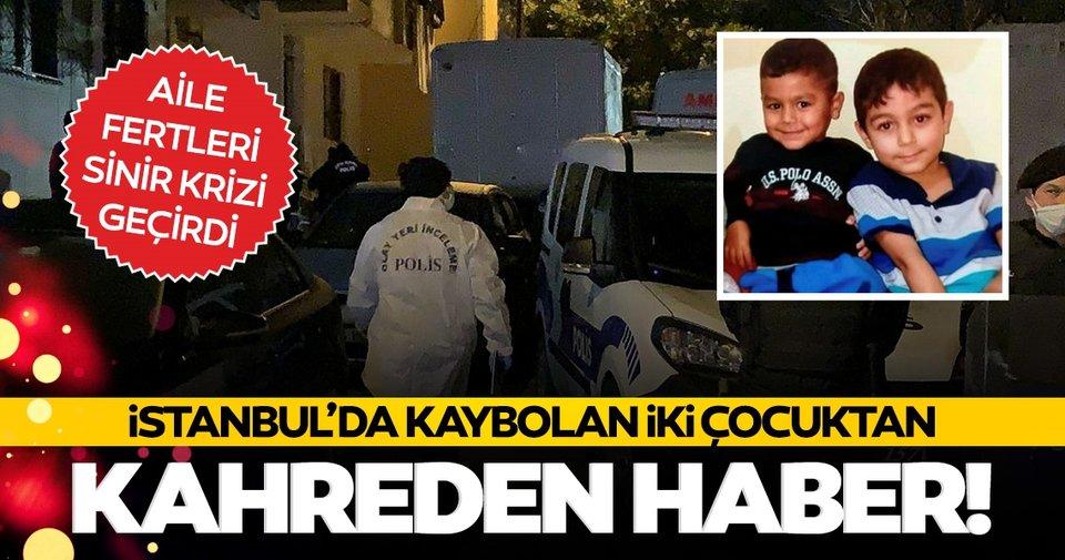 Çekmeköy'de öğleden bu yana kayıp olan iki çocuk ölü bulundu