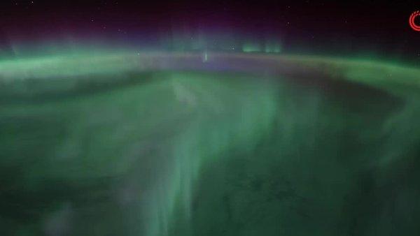 Kutup ışıkları uzaydan görüntülendi | Video