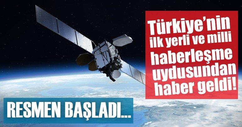 Türkiye'nin ilk yerli ve milli haberleşme uydusu Türksat 6A'nın yapımına başlandı