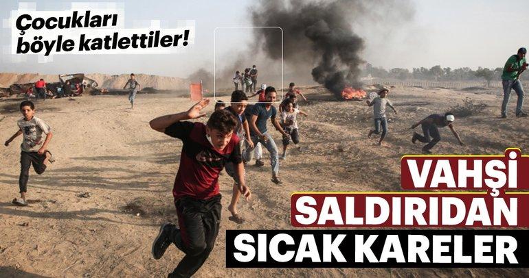 Vahşi İsrail saldırısından sıcak kareler