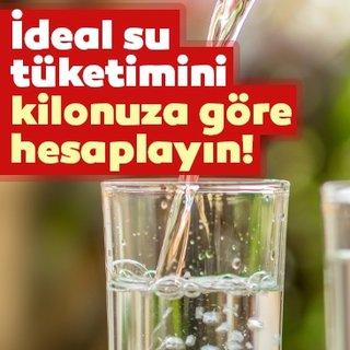 İdeal su tüketimini kilonuza göre hesaplayın!