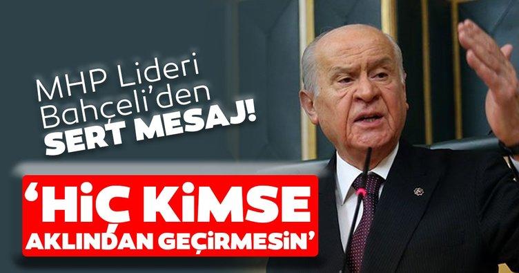 SON DAKİKA! MHP Lideri Bahçeli'den flaş Ayasofya mesajı!