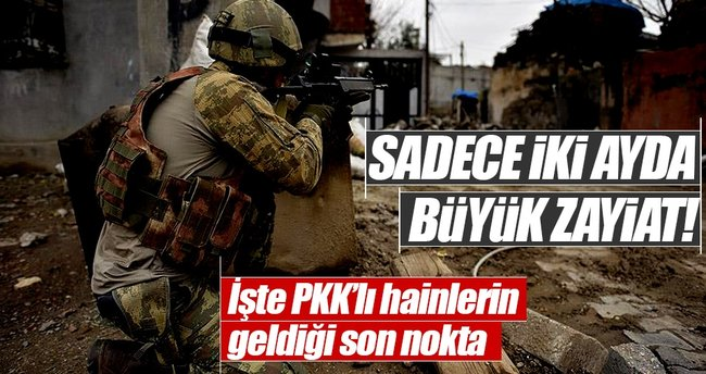 PKK'ya iki ayda ağır darbe