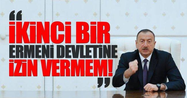 Aliyev: İkinci bir Ermeni devletine müsaade etmeyeceğiz