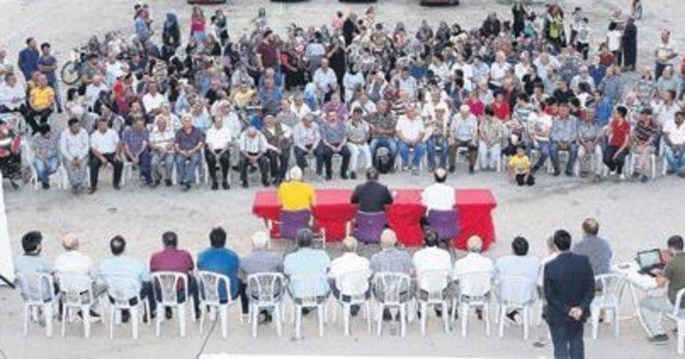 Tandoğanlılarla mahalle toplantısı