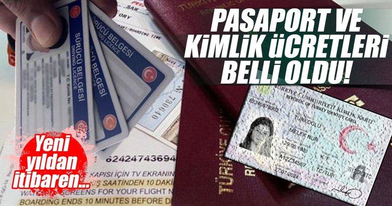 2018 pasaport ve kimlik ücretleri belli oldu