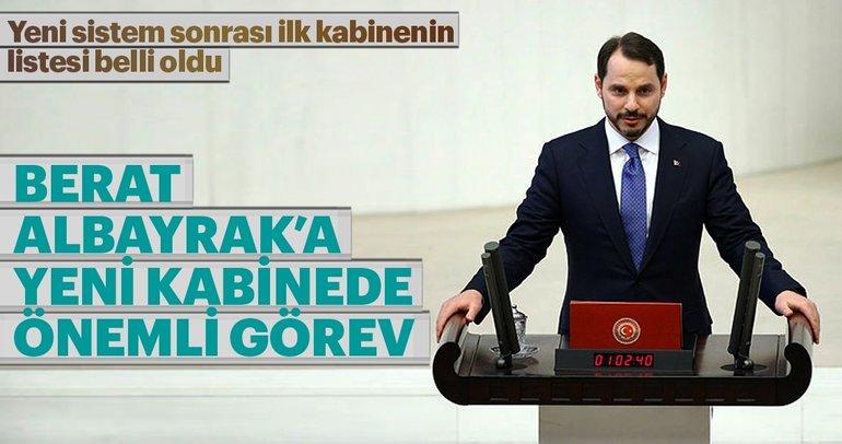 Son dakika: Yeni kabinede Berat Albayrak'a önemli görev! Albayrak, Hazine ve Maliye Bakanı Oldu