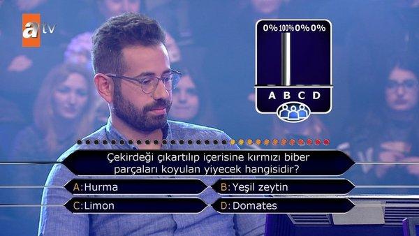 Kim Milyoner Olmak İster? 651. bölüm soruları ve cevapları