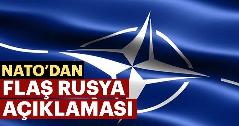 Son dakika: NATO'dan flaş Rusya açıklaması