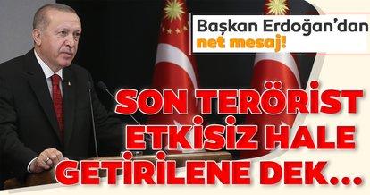 Son dakika: Başkan Erdoğan'dan şehitlerimiz için taziye mesajı