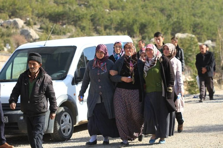 Ermenek'te beş madenciye hüzünlü veda