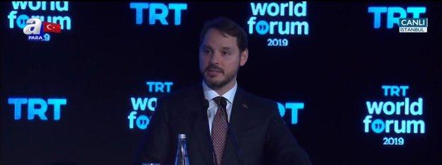Hazine ve Maliye Bakanı Berat Albayrak TRT World Forum'da konuştu