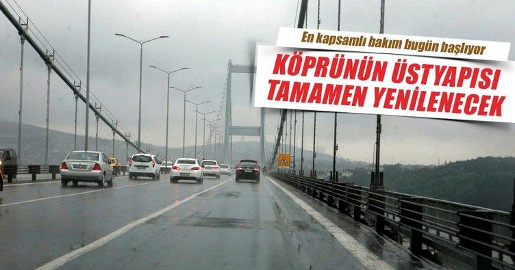 Köprü asfaltı 2.5 ayda pırıl pırıl olacak