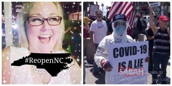 'Covid-19 bir yalan' pankartıyla protestolara liderlik eden Audrey Whitlock Covid-19'a yakalandı!